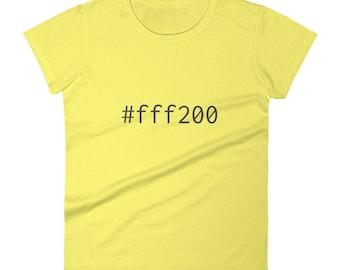 Yellow #fff200 Women's short sleeve t-shirt Graphic Design Code Shirt