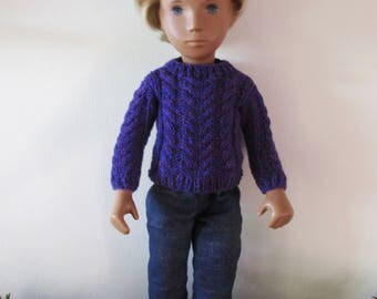 Hand Knitted Jumper for Sasha or Gregor Doll