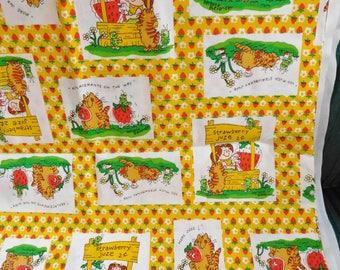 RARE vintage Material Fabric Whimsical World of Barbara Alexander