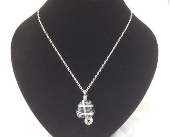 Snowflake Obsidian Pendant, Snowflake Obsidian Necklace, Snowflake Obsidian Jewelry, Pendant Necklace, Pendant Necklace Silver,