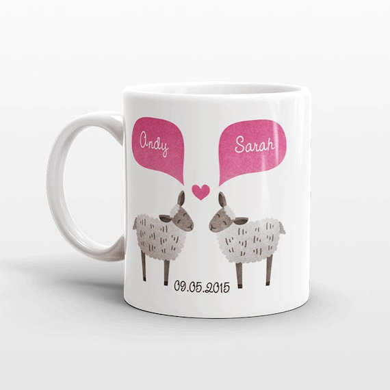 SHEEP Mug Valentines Day Gift for Her for Him Lamb Mug Animal Couple Mug Anniversary Gift Men Unique Coffee Mug Personalized Mug Coffee Cup