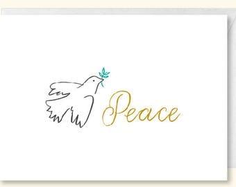 Peace Dove Christmas Card