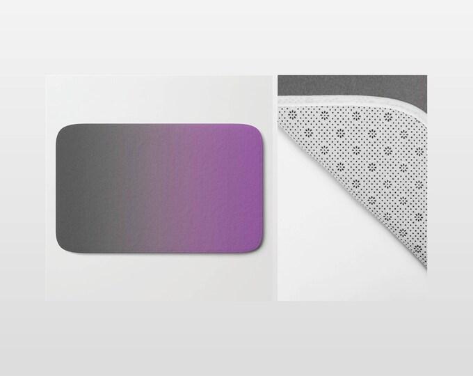 Bath Mat - Gray to Purple - Ombre - Shower Mat - Bathroom Mat -  Made to Order