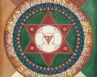 Vajra Varahi Mandala, Goddess of the Energy of Life prana kundalini meditation shiva consort Queen of Great Bliss Marchungma Yidam