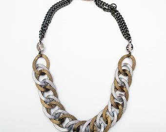 Silver & Gold Links Necklace