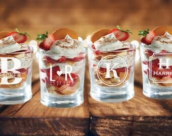 Wedding Dessert Table Ideas, Wedding Shooter Glass, Wedding Dessert Bar Ideas, Dessert Shooters Cups for Wedding Reception, Bulk Discounts