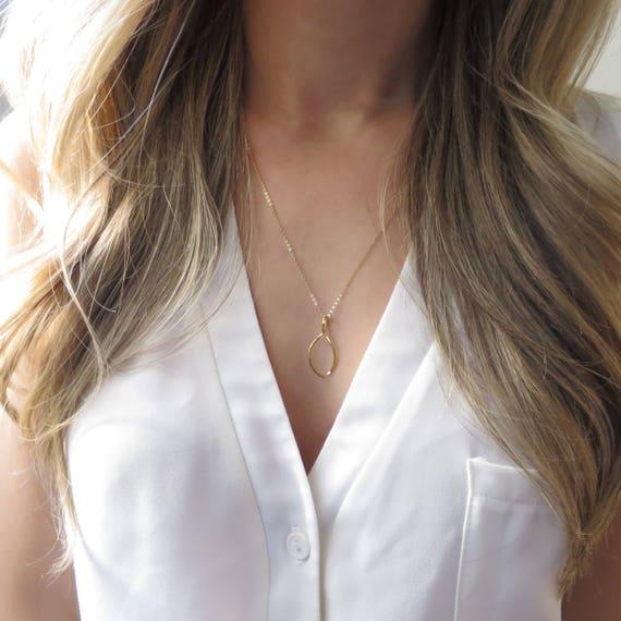 Thanksgiving Wishbone Necklace
