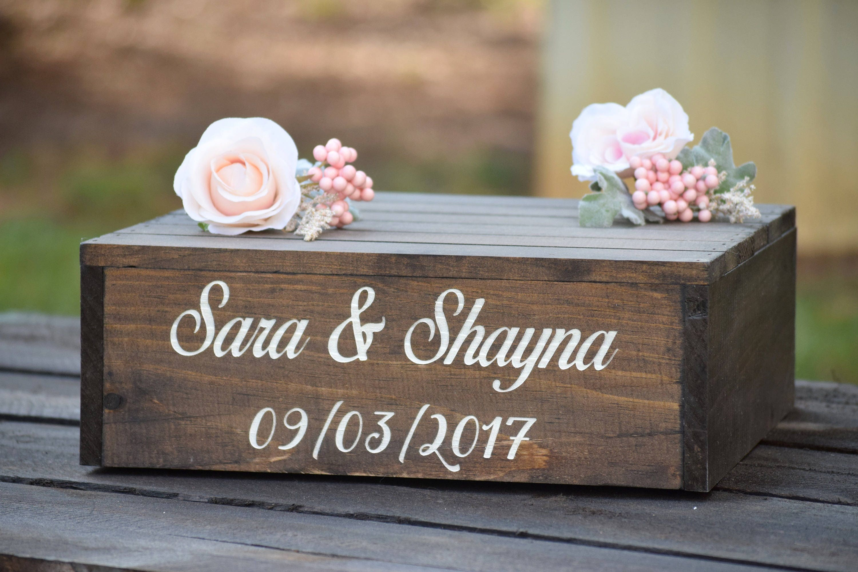 Rustic Wedding Wood Cake Stand: Personalized Wooden Cake Stand Engraved Cake Stand Rustic