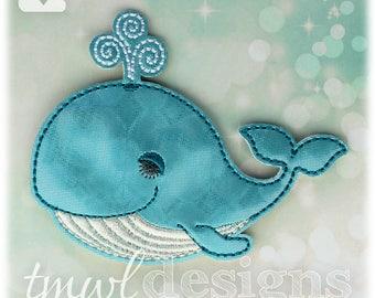 Sleepy Blue Whale OS Feltie Digital Design File