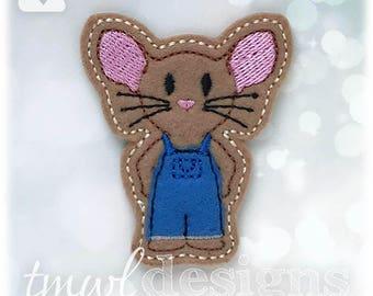 """Mouse A Cookie Feltie Digital Design File - 1.75"""""""