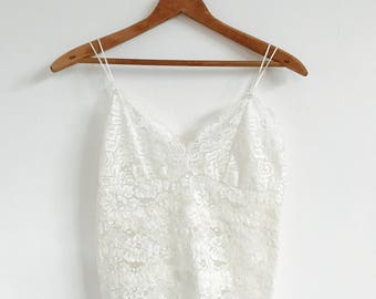VTG Lace Camisole // Vintage // Lingerie // Top // Spaghetti Top // Bohemian