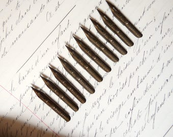 Antique Pen Nibs John Mitchell 047EF with Balloon Decor Calligraphy Nibs Dip Pen Nibs Collectibles 10 nibs