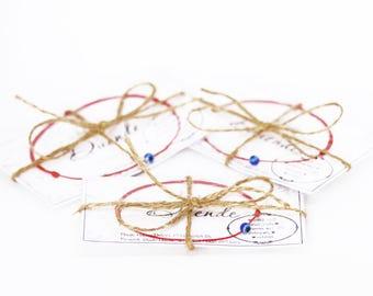 FAMILY SET Of THREE Red String Bracelets, Mom Dad Child Nazar Bracelets, Kabbalah Bracelets, Evil Eye Bracelets, Protection Bracelets Set