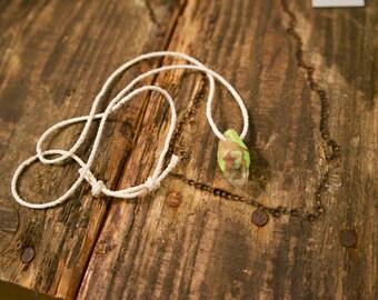 Raw Clear Quartz Pendant Necklace