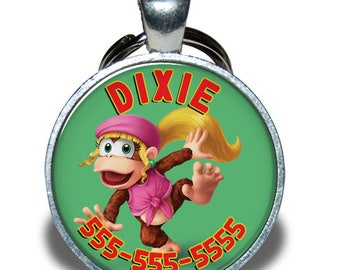 Pet ID Tag - Dixie Kong *Inspired* - Dog tag, Cat Tag, Pet Tag