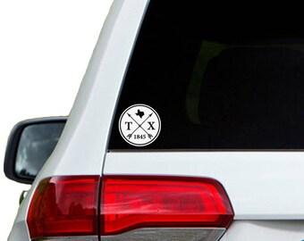 Texas Arrow Year Car Window Decal Sticker