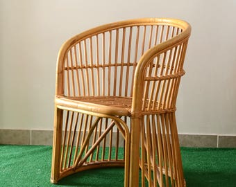 Reserved for Kelly-Vintage Boho Rattan Dining Chair