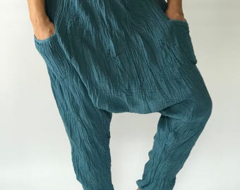 "HL0061 Harem Pants super soft rayon baggy unisex harem pants have the ""flow"", perfect of yoga"