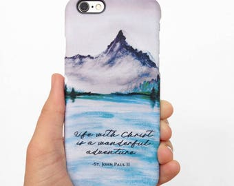 Life with Christ is a Wonderful Adventure | Saint John Paul II | Phone Case