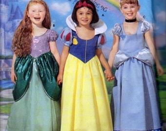 Simplicity 5832, aka Simplicity 0616, Disney Princesses Costume Patterns, Snow White, Ariel, Cinderella, Girls Sizes 3, 4, 5, 6, 7 and 8