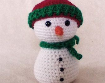 Crocheted Snowman Amirugumi Toy