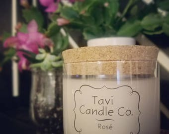 Rose' Scented Soy Wax Candle