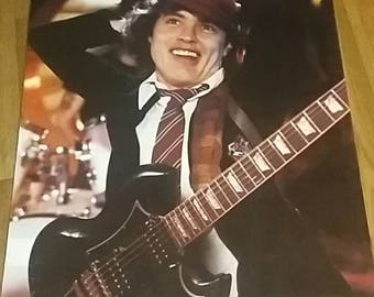 AC/DC large wall poster 1980's Angus Young ACDC original vintage