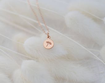 Dainty Dandelion Necklace, Rose Gold Necklace, Available in Sterling Silver, Gold and Rose Gold
