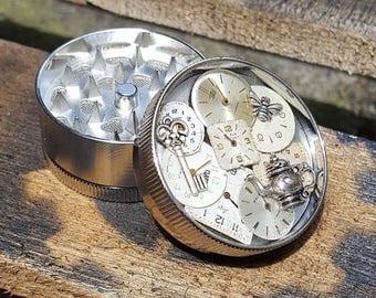 Steampunk Herb Grinder - Steampunk Victorian Tea Time - Metal Herb Grinder - pepper grinder - spice grinder