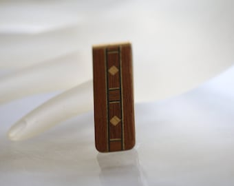 Vintage Money Clip,  Wood Money Clip, Men's Gift, Southwest Jewelry