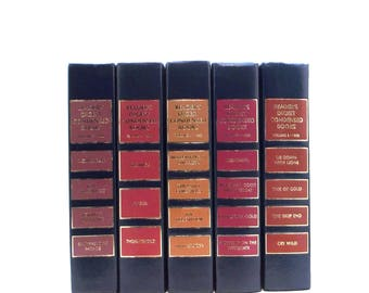 OVERSTOCK CLEARANCE Brown russett Readers Digest book collection, brightly colored books for room decor, instant colorful library, book set