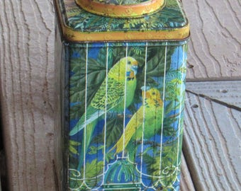 Vintage Metal Bird Cage Container