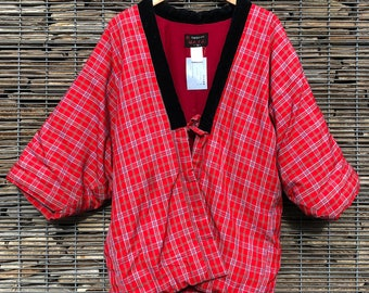Vintage Hanten Kimono Jacket Japanese Padded Quilted Kimono Gift for Her Gift for Him