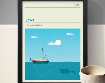 Jaws Movie Poster - Movie Poster, Movie Print, Film Poster, Film Print