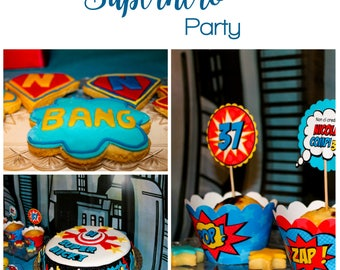 Superhero  Printable Party