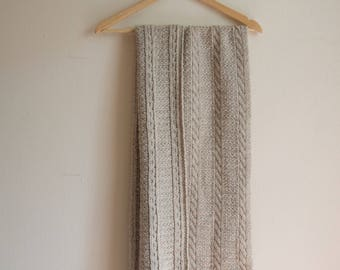 Handknitted Chunky Scarf/Throw
