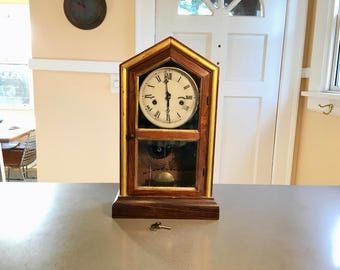 1880 New Haven Tuscan Parlor Clock