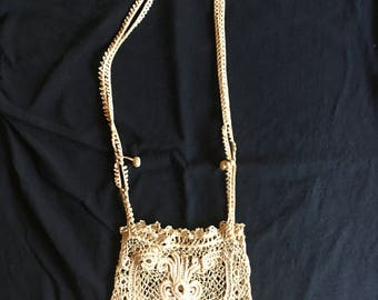 Antique Bridal Crochet Handbag/Purse