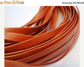 Genuine Nappa 5mm Flat Orange leather cord, jewelry supplies, leather supplier, jewelry supplier, high quality european, strap