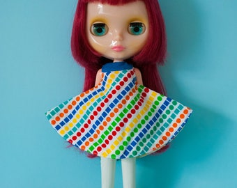 MOD kitsch Blythe doll rainbow dress / GALAXY TACO
