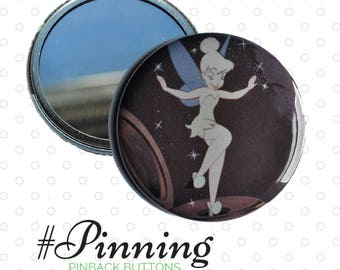 Tinkerbell Pocket Mirror Disney Inspired Upcycled Storybook Cosmetic Mirror