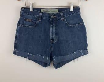 Vintage Eddie Bauer Cutoff Jean Shorts. Size S