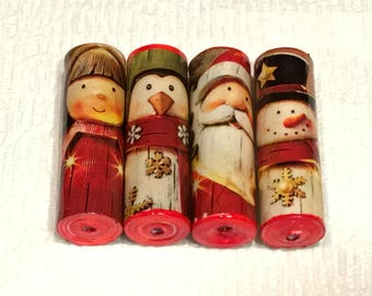 Christmas Paper Bead Set Handmade Beads for Pens and other Beadable Products