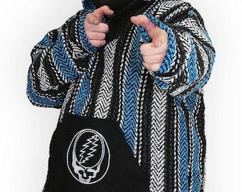 Grateful Dead Steal Your Face Baja Pullover Hooded Jacket