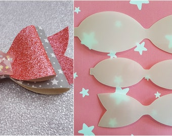 "4"" Hair bow plastic template, make your own beautiful glitter Hair bows"