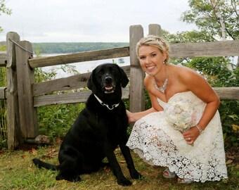Bridal Mainely Rope Dog Collar Large