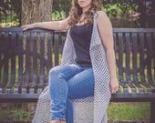 Instant Download- Crochet Pattern- Derby Duster Vest