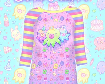"Pink ""OctoParty"" Raglan Shirt"