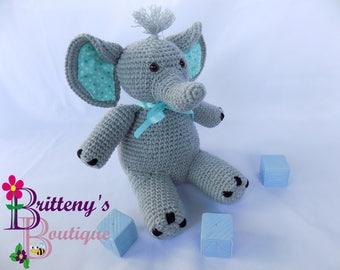 Stuffed Elephant / Musical Elephant / Musical Stuffed Elephant / Gray Stuffed Elephant / Baby Decor Stuffed Elephant / Gray Baby Elephant