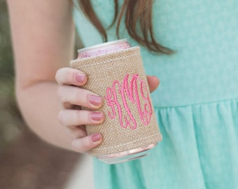 Personalized Burlap Drink Wrap